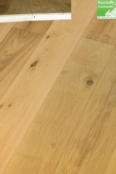 Landhausdiele 3-Schicht Eiche natur 14x190mm umlaufemd Klick Verbindung oder Nut+Feder + Fase