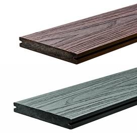 WPC StrongWood XL Solid db 20 x 190mm in Holz gemasert Walnuss und Vintage