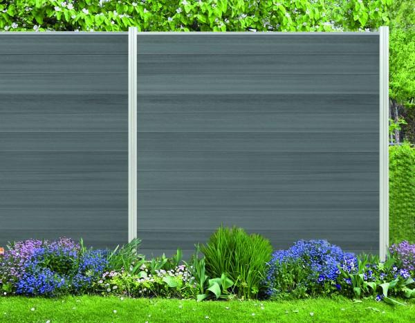 System Sichtschutz Zaun WPC Cora Line in 10 Farben als Stecksystem