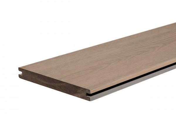 WPC StrongWood XL Solid db 20 x 190mm in Holz gemasert Muschel und Stein