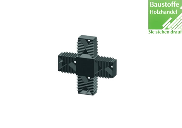 X-Verbinder für Unterkonstruktion 40x60mm in 2,0m VE = 25 Stück