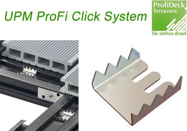 UPM ProFi Direkt Fix Clip fixiert die Position der Dielen