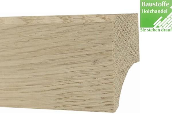 Sockelleiste Massivholz Eiche astrein 20 x 40mm unbehandelt