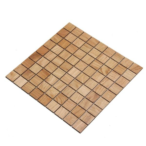Wodewa Holz Mosaik Fliesen Eiche 28,8 x 28,8cm in zwei Formaten