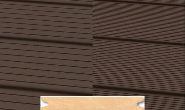 Massiv WPC Terrassendiele 22 x 143mm Dunkelbraun gerillt/genutet in 4 Längen