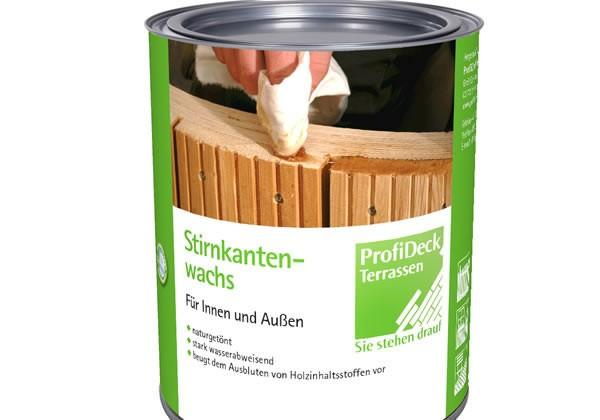Stirnkantenwachs 0,25 Liter für alle Holzarten gegen Ausbluten und Einreissen der Dielenenden