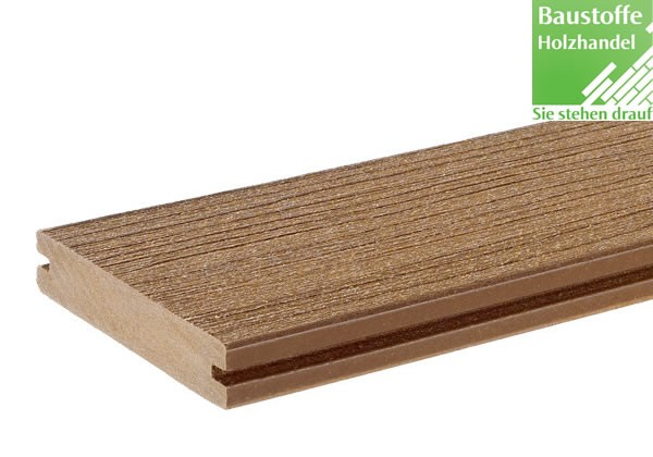 Timbertech WPC Massivdiele Cedar, Kollektion Twin Finish, 24x136mm seitl. genutet (auch ungenutet)