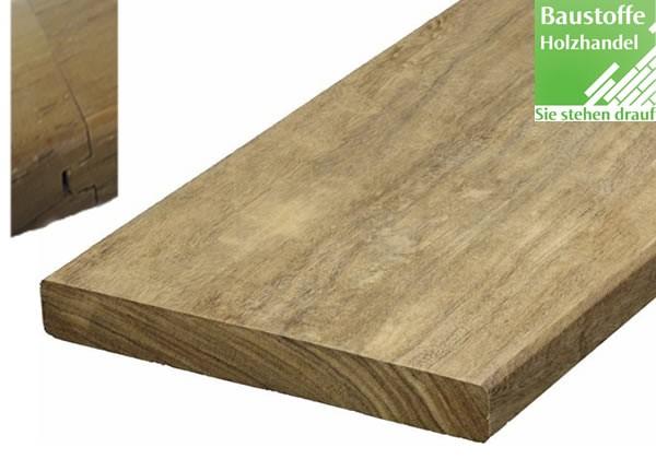 Momoqui System Terrassendiele 21x145mm glatt, Nut und Feder Kopfseitig