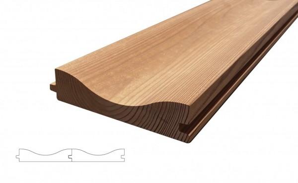 Lunawood Thermokiefer Wellenprofil Aalto Fassadenprofil 32x142mm