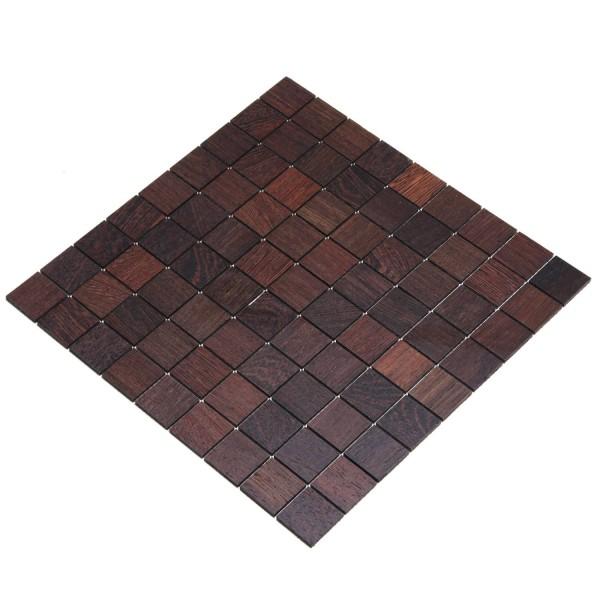Wodewa Holz Mosaik Fliesen Wenge 28,8 x 28,8cm in zwei Formaten