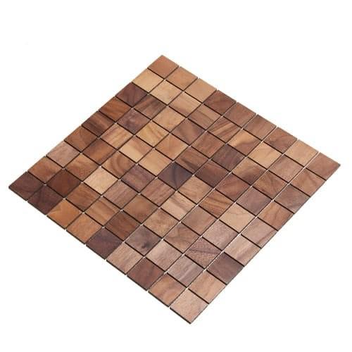 Wodewa Holz Mosaik Fliesen Nussbaum 28,8 x 28,8cm in zwei Formaten