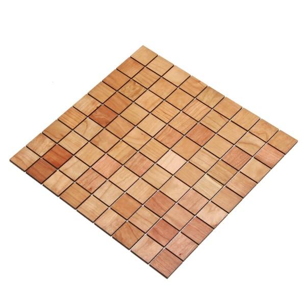 Wodewa Holz Mosaik Fliesen Kirsche 28,8 x 28,8cm in zwei Formaten