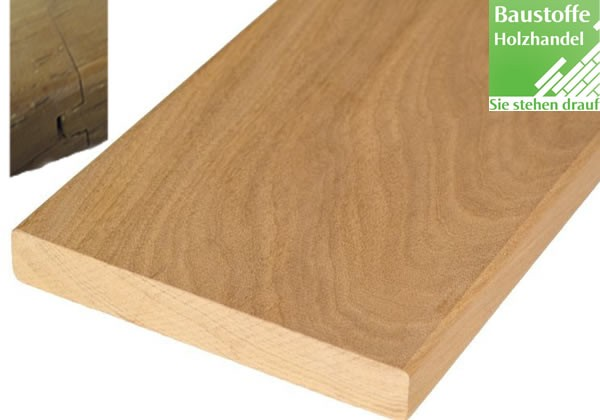 Marfil System Terrassendiele 21x145mm glatt, Nut und Feder Kopfseitig